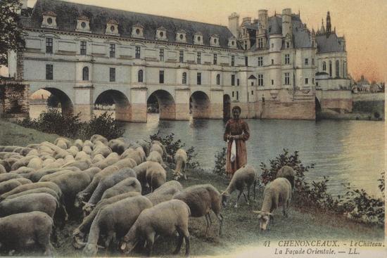 Chenonceaux, Le Chateaux, La Facade Orientale--Giclee Print