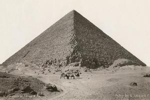 Cheops Pyramid and Camels