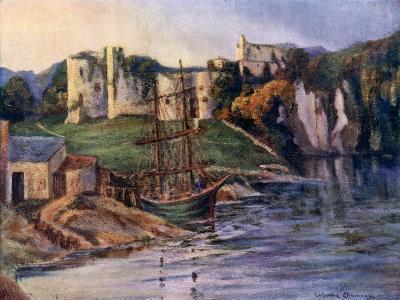 Chepstow Castle, Monmouthshire, Wales, 1924-1926-Catharine Chamney-Giclee Print