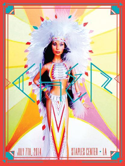 Cher 2014-Kii Arens-Art Print