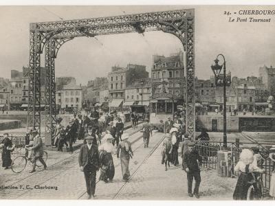 Cherbourg: the Swing Bridge--Photographic Print