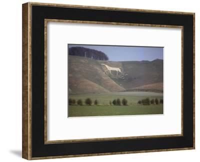 Cherhill White Horse (18th Century), Wiltshire, England, 20th century-CM Dixon-Framed Photographic Print