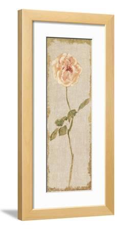 Pale Rose Panel on White Vintage