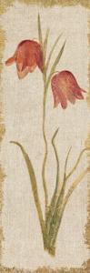 Red Tulip Panel on White Vintage by Cheri Blum