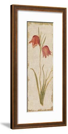 Red Tulip Panel on White Vintage