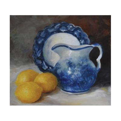Blue Willow and Yellow Lemons by Cheri Wollenberg