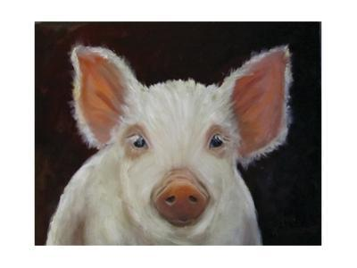 Chester White Pig by Cheri Wollenberg