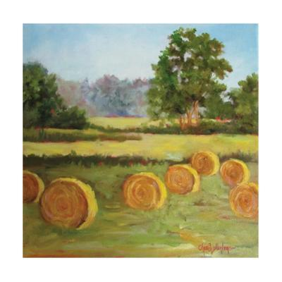 Hay Bales in the Summer I by Cheri Wollenberg