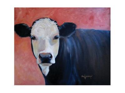 Louise Cow Painting by Cheri Wollenberg
