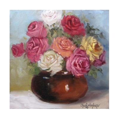 Mixed Colored Roses by Cheri Wollenberg