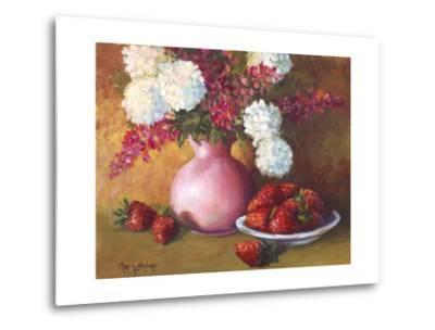 Pink Vase and Strawberries