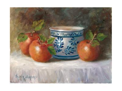 Three Apples and Bowl by Cheri Wollenberg