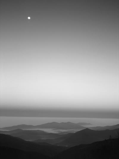 Cherohala Skyway, Full Moon over the Smoky Mountains-Rob Tilley-Photographic Print