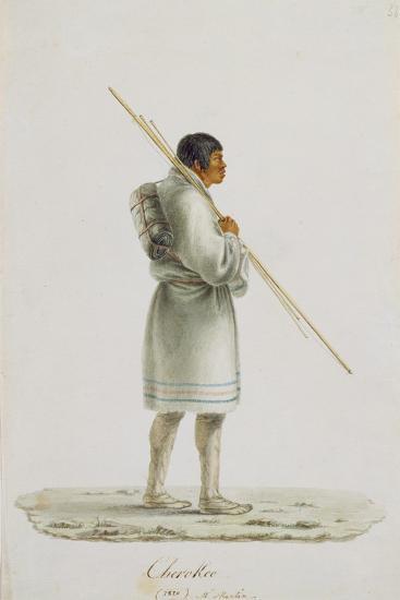 Cherokee, 1820-Anne Marguerite Hyde de Neuville-Giclee Print