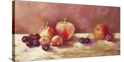 Cherries and Apples (detail)-Nel Whatmore-Stretched Canvas Print