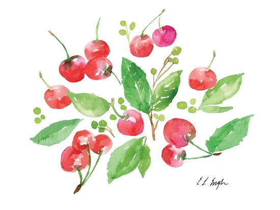 Cherries and Leaves-Elise Engh-Art Print
