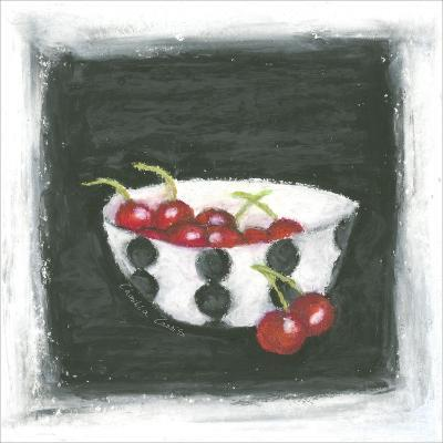 Cherries in Bowl-Chariklia Zarris-Art Print