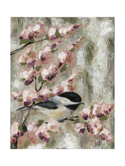 Cherry Blossom Bird I-Jade Reynolds-Art Print