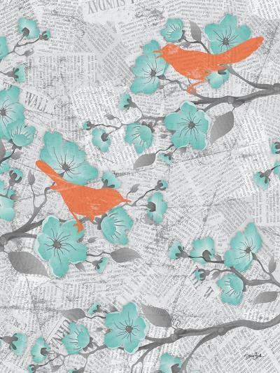 Cherry Blossom Birds 6-Diane Stimson-Art Print