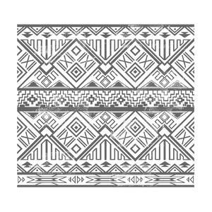 Abstract Geometric Seamless Aztec Pattern. Ikat Style Pattern by cherry blossom girl