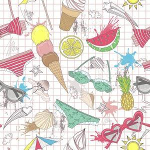 Cute Summer Abstract Pattern by cherry blossom girl