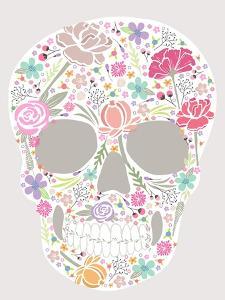 Skull From Flowers by cherry blossom girl