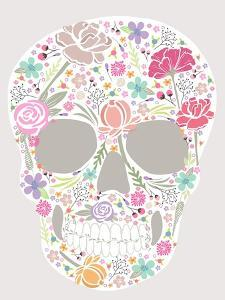 Skull From Flowers by cherry blossom girl