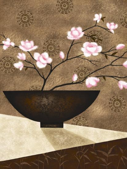 Cherry Blossom in Bowl-Jo Parry-Art Print