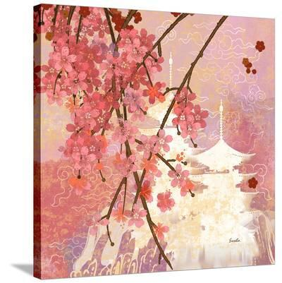 Cherry Blossom Pagoda--Stretched Canvas Print