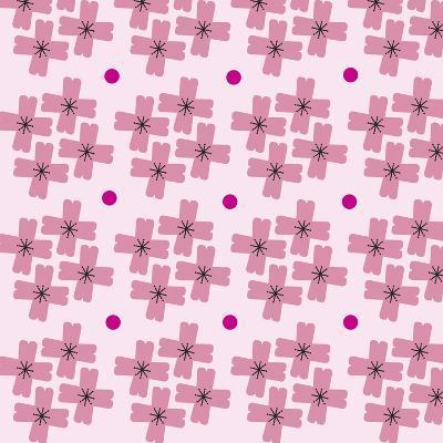 Cherry Blossom Pattern--Giclee Print
