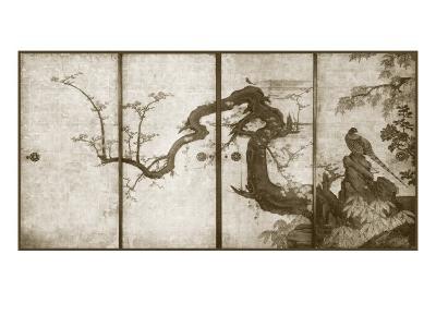 Cherry Blossoms and Pheasant--Art Print