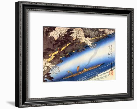 Cherry Blossoms in Full Bloom-Ando Hiroshige-Framed Art Print