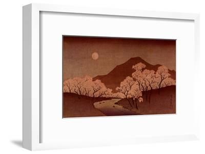 Cherry Blossoms-Ando Hiroshige-Framed Art Print