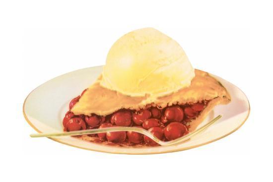 Cherry Pie A La Mode-Found Image Press-Giclee Print