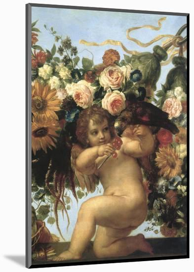 Cherub and Parrot-null-Mounted Giclee Print