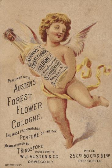Cherub Holding Cologne Bottle--Giclee Print