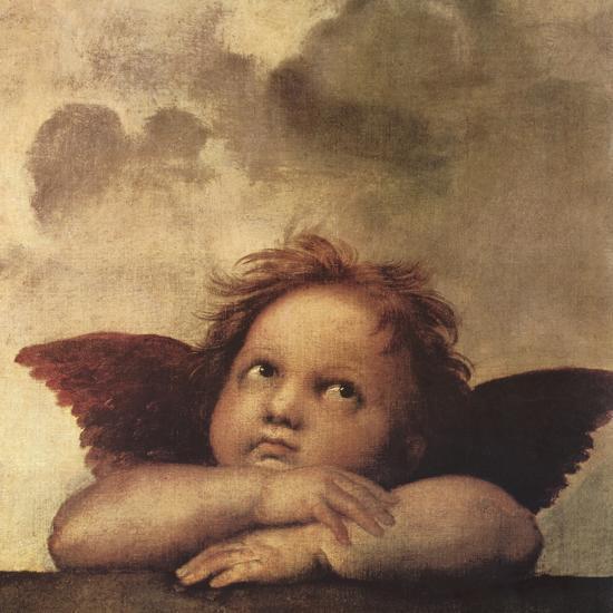 Cherubs - Detail II-Raphael-Giclee Print