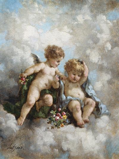 Cherubs in the Clouds-Charles Lutyens-Premium Giclee Print