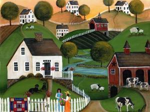 Flower Lady Dairy Farm Cheryl Bartley by Cheryl Bartley