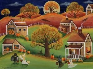 Halloween Autumn Moon by Cheryl Bartley