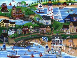 Old New England Seaside 4th of July Celebration by Cheryl Bartley