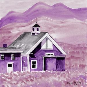 Purple Folk Art Barn by Cheryl Bartley