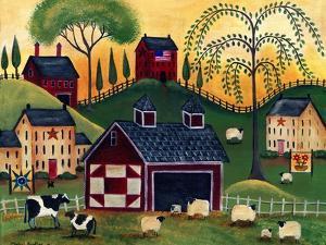 Sunrise Red Quilt Barn Cheryl Bartley by Cheryl Bartley
