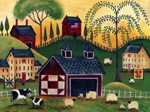 Sunrise Red Quilt Barn Cheryl Bartley by Cheryl Bartley