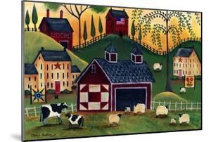 Sunrise Red Quilt Barn by Cheryl Bartley