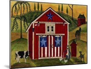 Sunrise Red White Blue Barn Lang by Cheryl Bartley