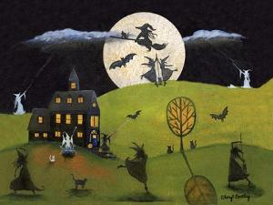 White Witch Halloween Dance Cheryl Bartley by Cheryl Bartley