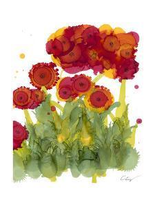 Poppy Whimsy IV by Cheryl Baynes