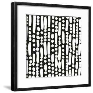 Cross Current Square Up I BW by Cheryl Warrick