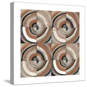 The Center I Abstract Warm by Cheryl Warrick